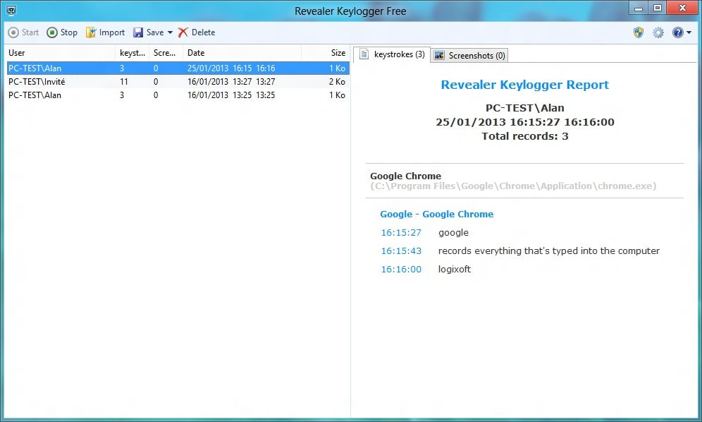 Revealer Keylogger Free Download - MostShareware.com Revealer Keylogger Free can record all the client's keystrokes and spares  them in logs that can frequently be erased, in this manner saving space on  the PC.